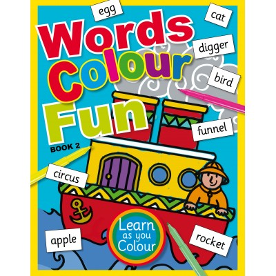 words colour fun book 2 - Fun Pictures To Colour In 2