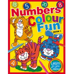 Numbers Colour Fun Book 1 - Learn as you Colour