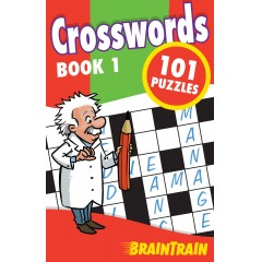BrainTrain Crosswords 101 Puzzles: Book 1