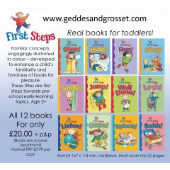 First Steps - 12 fun early learning books offer for ages 2+  (12 books for £20 + P&P)